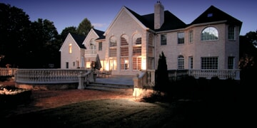 residential ohio home with low voltage lighting