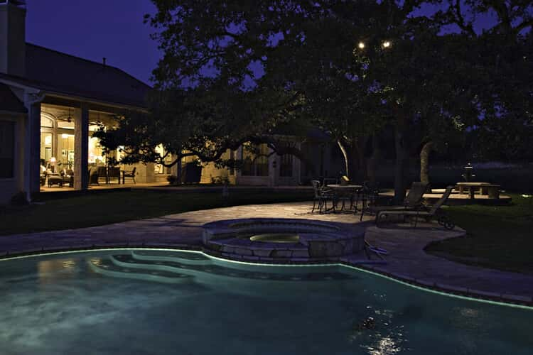 soft pool lighting for relaxation