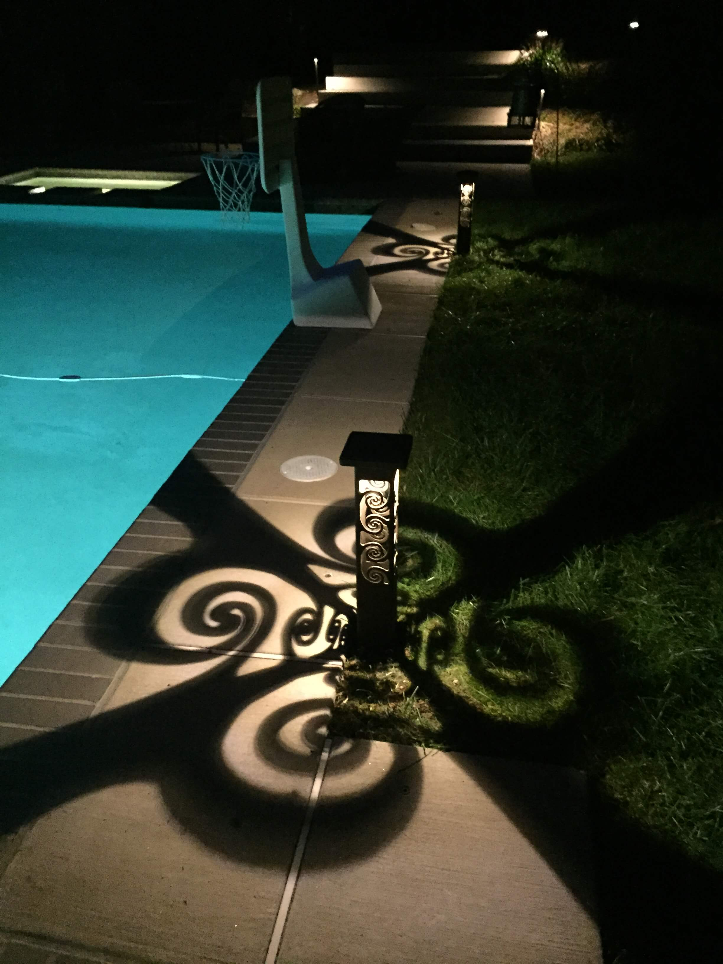 Decorative pool lighting
