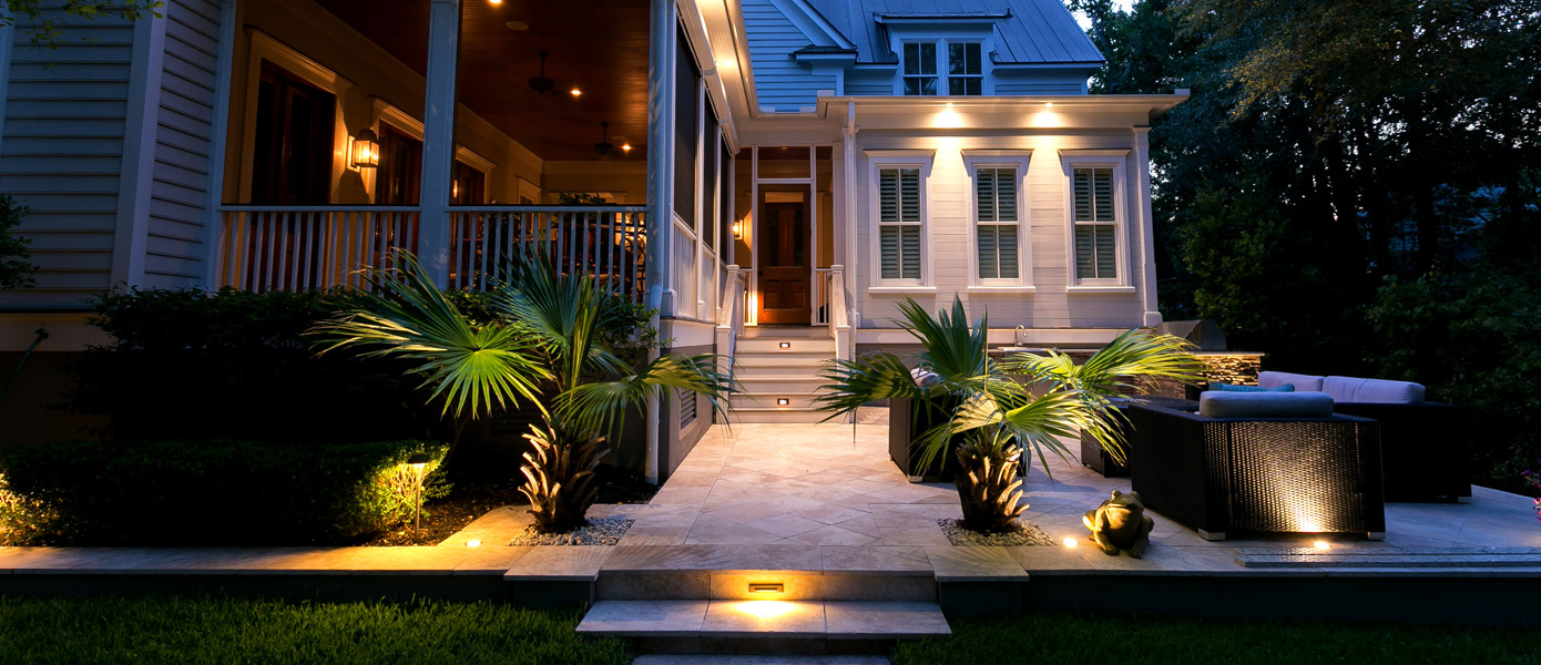 front yard architectural lighting