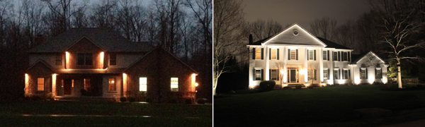 soffit lighting versus facade lighting on home