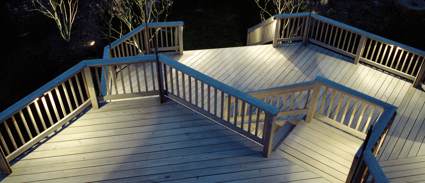 backyard deck illumination lighting
