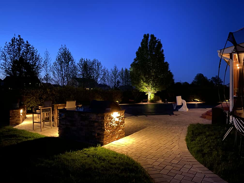 Heritage Park outdoor backyard patio and pathway lighting