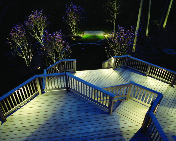 Deck with Outdoor Lighting Accents