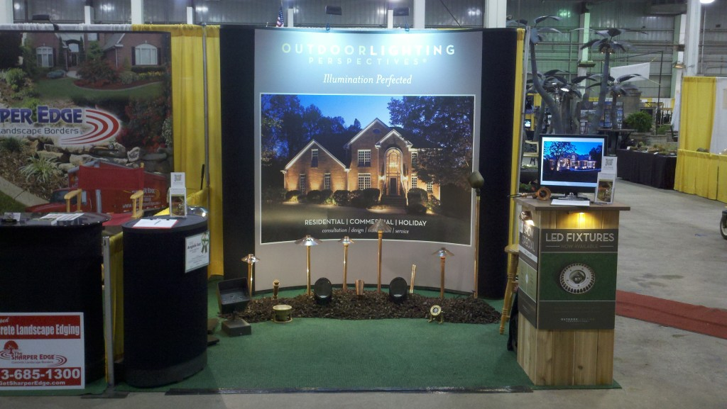 Outdoor Lighting Perspective booth at the Johnson County Home & Garden Show