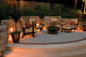 Patio and seating area lighting
