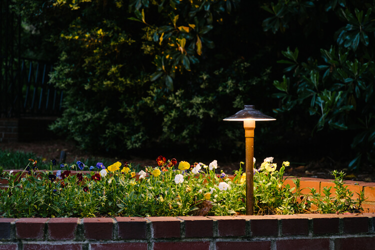 Lighting Fixture in Planter Box