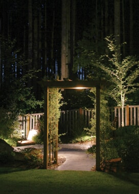 backyard garden lighting