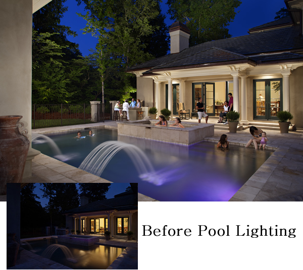 before and after pool lighting