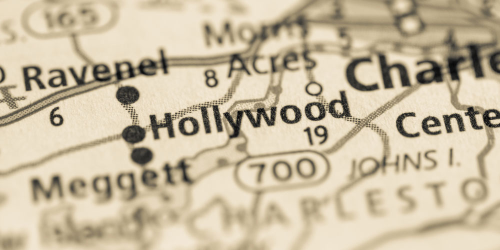 Map highlighting Hollywood