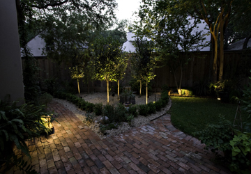 Charleston Patio with Outdoor Lighting