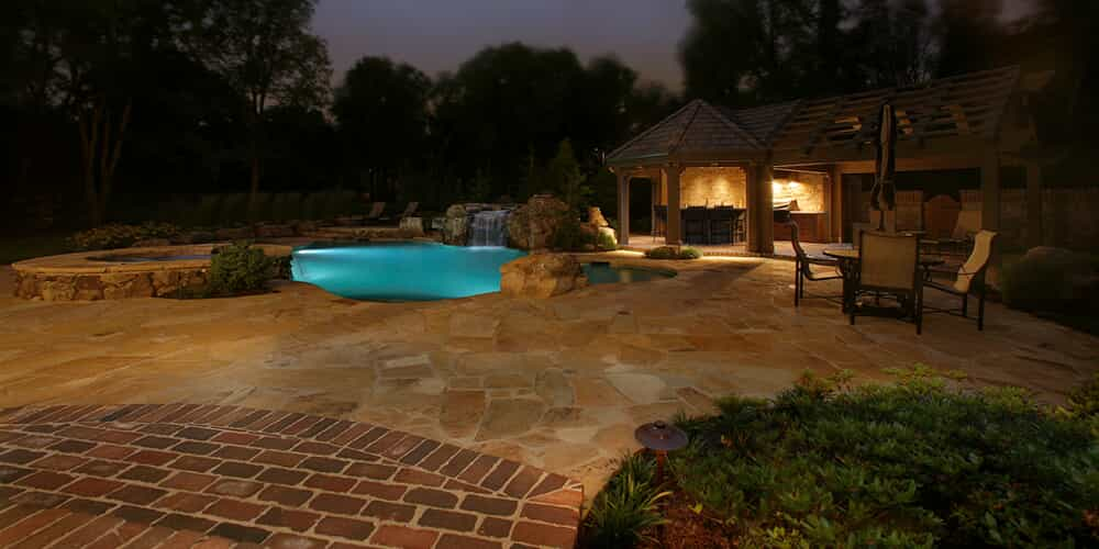 Daniel Island Backyard Outdoor Lighting