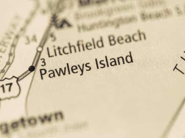 pawley's island on map